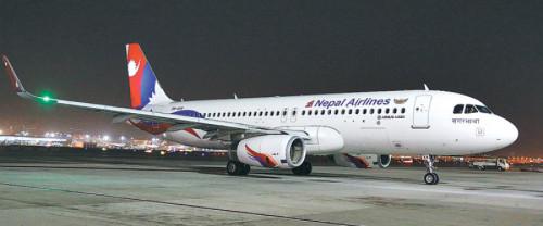 नेपाल वायु सेवा निगमको वाइड बडी जहाज चीन प्रस्थान